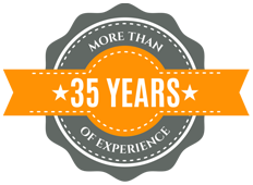 35 years logo